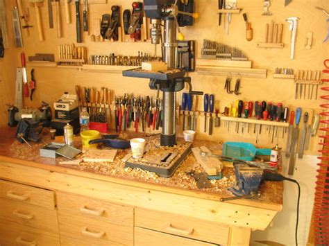 messy workshop mid project