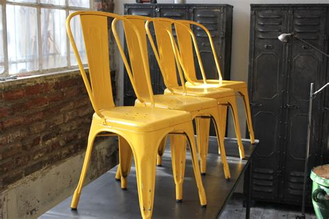 chaise tolix ancienne 4 ancienne chaise tolix xavier pauchard jaune des annees 50