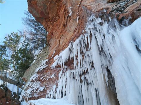 ice caves  apostle islands national lakeshore lake