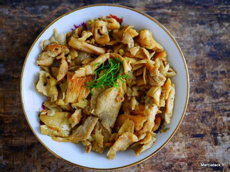 cuisiner des pleurotes recette de pleurotes à l 39 ail marciatack fr