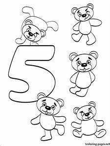 Number 5 Five coloring page | Coloring pages