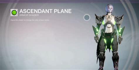 ascendant plane   legendary shader  acquire