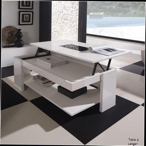 Table Basse Relevable En Verre Alinea  Le Bois Chez Vous