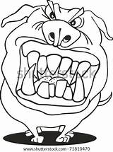 Mad Dog Coloring Bear Grizzly Shutterstock Cartoon Puppy Gray sketch template