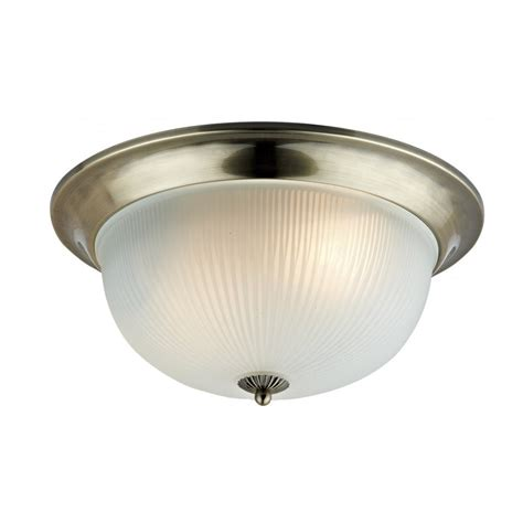 dar lighting bishop bis5275 antique brass 2 light flush