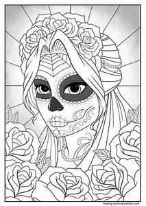 girly sugar skull coloring pages MEMES