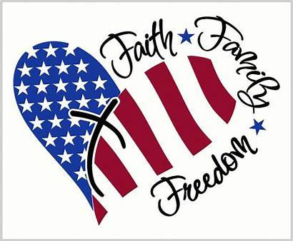 Decal Decals Wall Faith Freedom Patriotic Heart