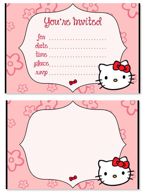 kitty birthday party invitations  kids
