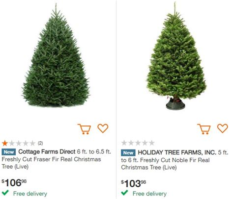 best rated fresh trees delivered to home free delivery on fresh cut trees at home depot