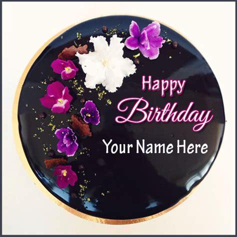 dark chocolate almond sponge birthday cake