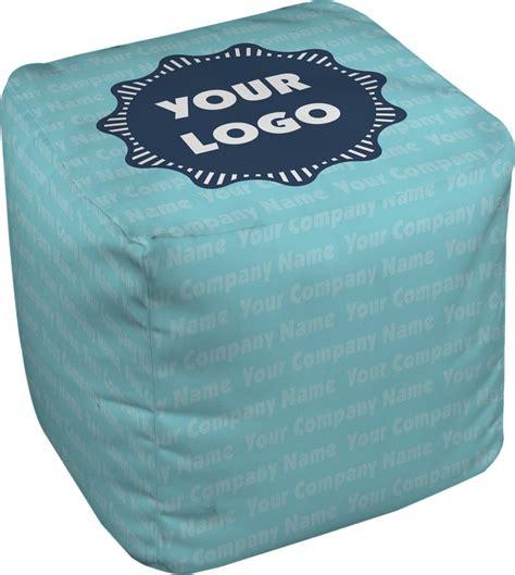 Ottoman Name - logo company name cube pouf ottoman 13 quot personalized