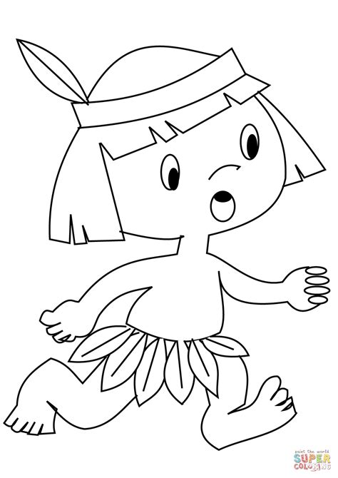indian coloring pages indian boy coloring page free printable coloring pages