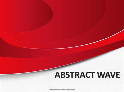 abstract waves red fppt   powerpoint templates