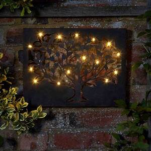 Silhouette decorative garden outdoor tree wall art with