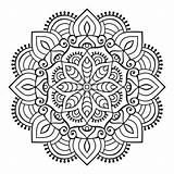 Mandala Boho Mandalas Colorear Ornament Gratis Stil Relajarse Coloring Schmuck Vektoren Flor Freepik Concentrarse Colorare Ornement Conception Pintar Stijl Indische sketch template