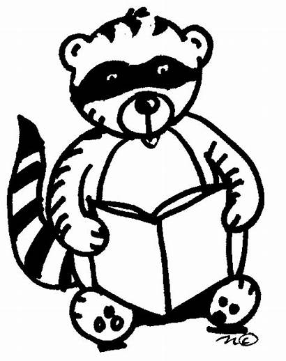 Kissing Hand Coloring Raccoon Clipart Pages Clip