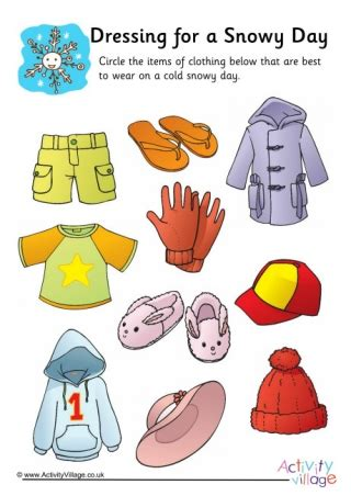 dressing   sunny day worksheet