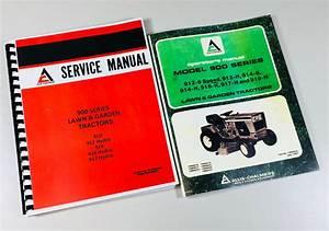 Allis Chalmers 912h 914 916h 917h Lawn Garden Tractor