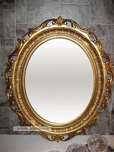 Spiegel Oval Antik : wandspiegel spiegel gold antik barock 58x68 cm modern oval rokoko 41 8 ~ Frokenaadalensverden.com Haus und Dekorationen