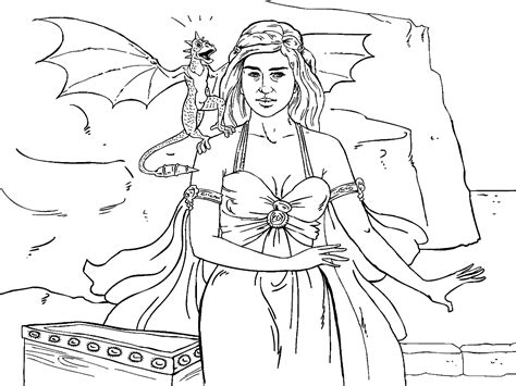 of thrones coloring pages of thrones colouring in page danaerys coloring