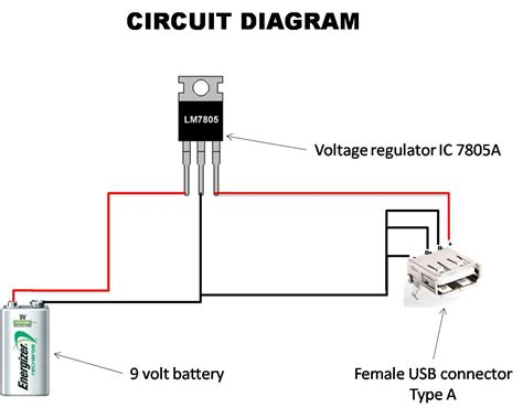 portable mobile phone charger circuit diagram