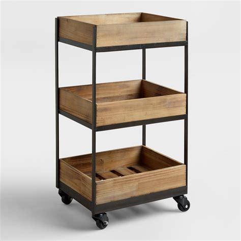 dolly kitchen island cart 3 shelf wooden gavin rolling cart market
