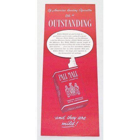 pall mall colors 1947 pall mall cigarettes color tobacco print ad
