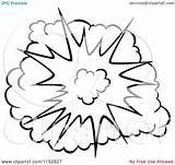 Explosion Comic Burst Clipart Poof Vector Drawing Illustration Cartoon Graphics Royalty Clip Clipartof Seamartini Transparent Drawings Explosions Tradition Comics Sm sketch template