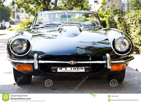 Jaguar E-type On Vintage Car Parade Editorial Photography