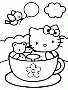 Dibujo De Hello Kitty Para Colorear Y Pintar