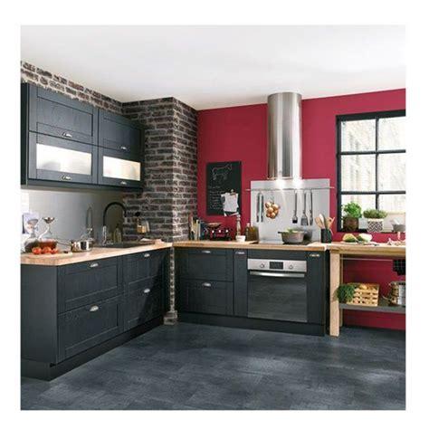 deco cuisine et grise déco salon cuisine équipée gris anthracite mur