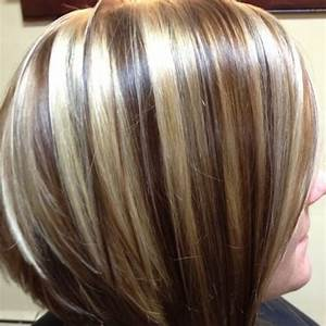 Chocolate Brown Hair With Chunky Blonde Highlights ...