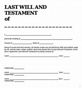 sample last will and testament form new vision marevinho With easy last will and testament free template