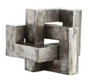 Houston Bedroom Furniture by Antiqued Aluminum Geometric Sculpture Mecox Gardens