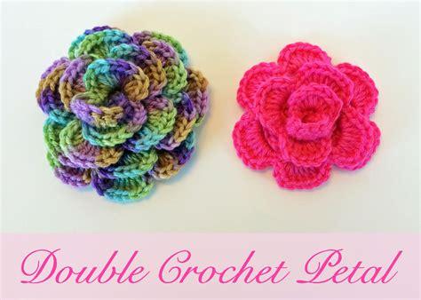 Crochet Rochelle Double Crochet Flower