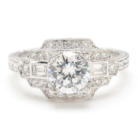 deco style engagement rings wedding promise