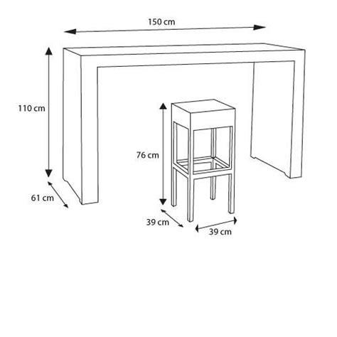hauteur d une table haute une table haute pour 6 personnes laissez vous tentez dimensions guide mesures