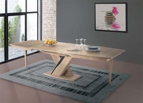 table contemporaine bois et c 233 ramiques avec allonges 470xtb
