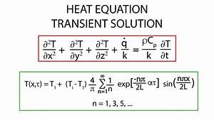 Heat Transfer L14 P2 - Heat Equation Transient Solution