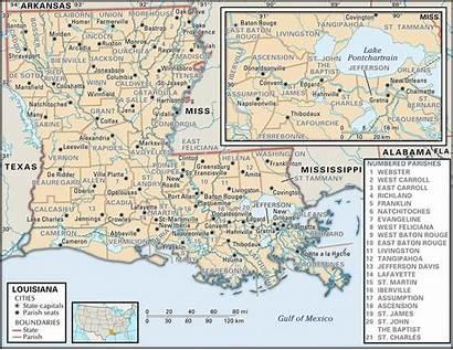 Louisiana Parish Maps Parishes Map State Land