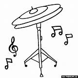 Cymbals Coloring Hi Hat Drawing Instruments Drum Getdrawings Thecolor sketch template