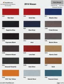 nissan paint color chart paint chips 2014 nissan 370z