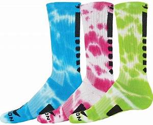 Maxim Neon Tie Dye Crew Length Socks in Bright Colors