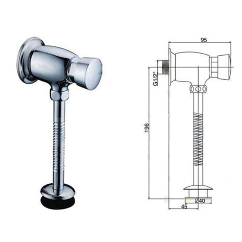 Toilet Urinal Flush Valve Brass Button Type Manual Delay