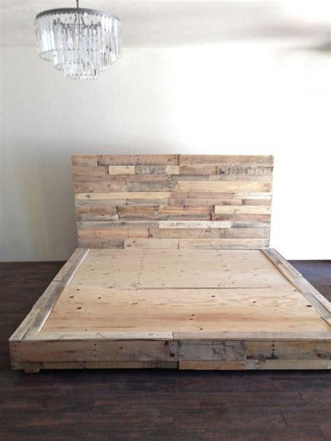 pallet bed platform reclaimed wood platform bed base pallet