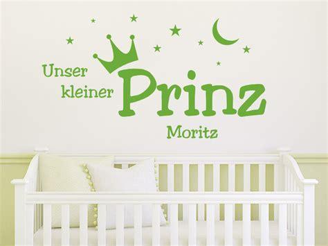 Wandtattoo Kinderzimmer Kleiner Prinz by Wandtattoo Unser Kleiner Prinz Mit Name F 252 R Das