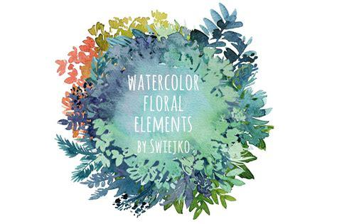 watercolor floral frames illustrations creative market