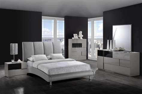 modern bedroom 8272 grey bed optional casegoods