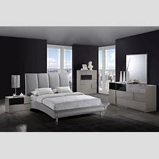 Modern Bedroom 8272grey Bed & Optional Bianca Casegoods
