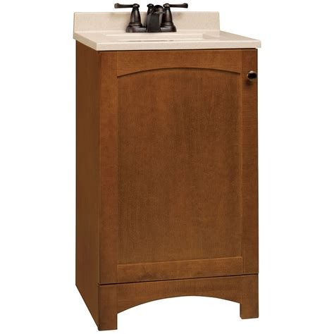18 Inch Bathroom Vanity Combo by 22 In W X 20 In D Traditional Birch Wood Veneer Vanity